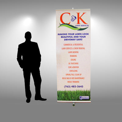 "33.5"" Retractable Banner Stand - Do Tradeshow - Custom Trade Show Displays and Booths in Minnesota"