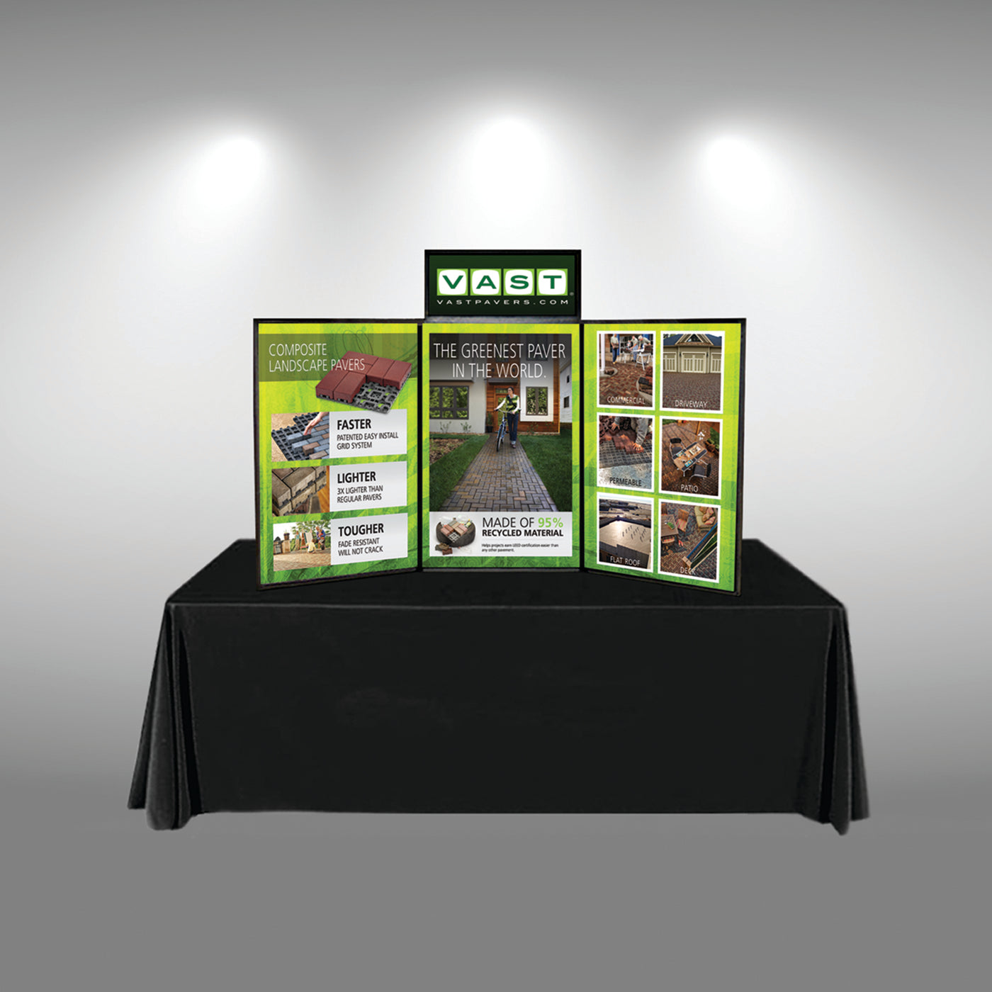 Trade Show Booth Loop : Graphic package for hook and loop folding panel display dotradeshow