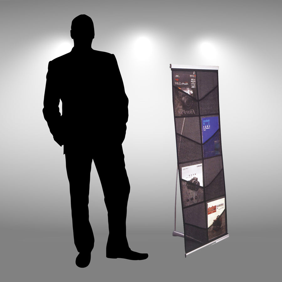 8-Pocket Economy Rollable Literature Display - Do Tradeshow - Custom Trade Show Displays and Booths in Minnesota