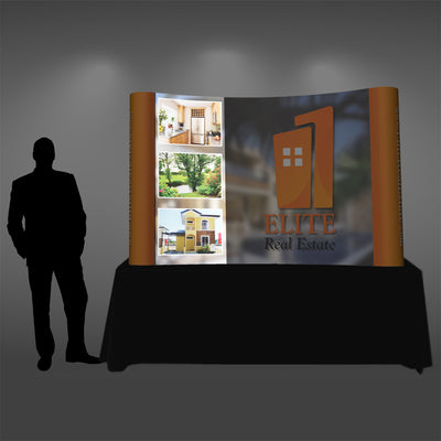Back-lit Graphic Panel for Tabletop Pop Up Displays - Do Tradeshow - Custom Trade Show Displays and Booths in Minnesota