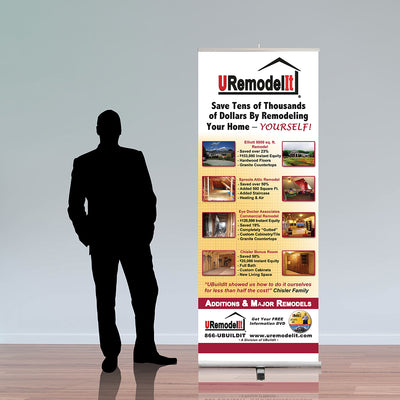 "UBuildIt 33.5"" Retractable Banner Stand - Do Tradeshow - Custom Trade Show Displays and Booths in Minnesota"