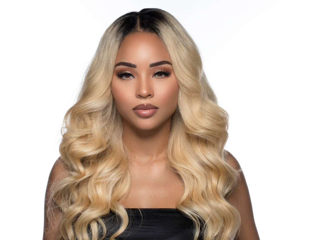 4x4 GLUELESS CLOSURE WIGS- 613 BLONDE BODY WAVE