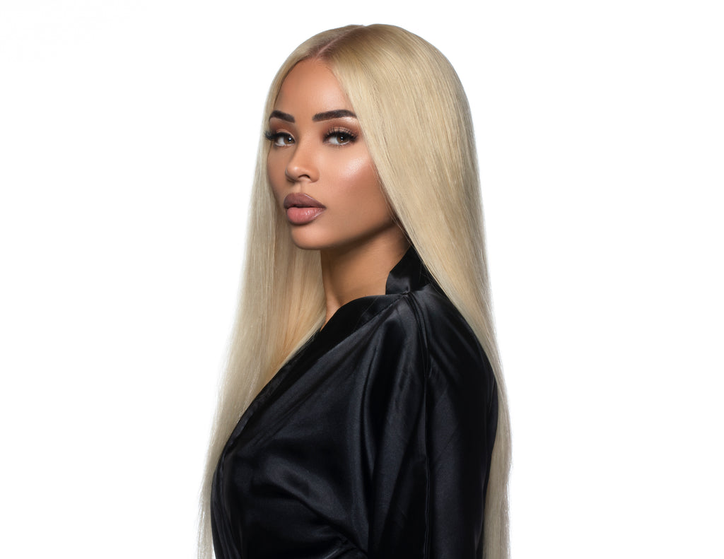 4x4 GLUELESS CLOSURE WIGS- 613 BLONDE SATIN STRAIGHT