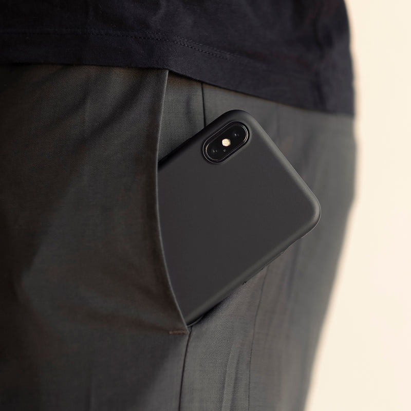 Ohut iPhone X kuori V2 - Stealth black
