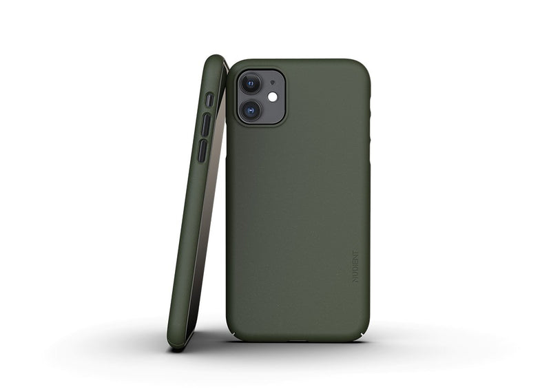 Nudient - Ohut iPhone 11 kuori V3 - Pine Green