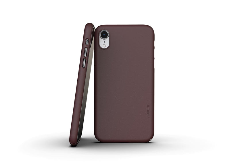 Nudient - Ohut iPhone XR kuori V3 - Sangria Red