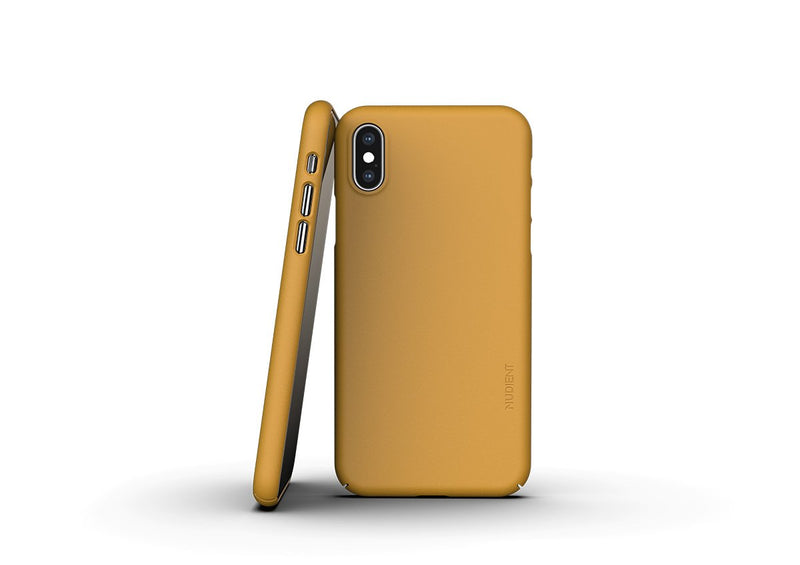 Nudient - Ohut iPhone XS kuori V3 - Saffron Yellow