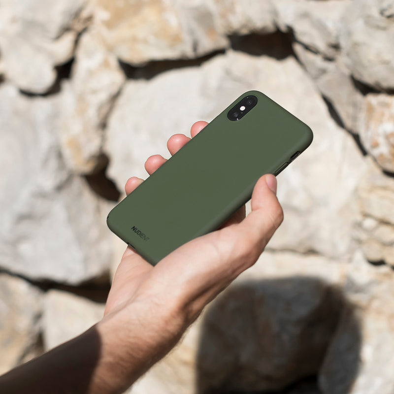 Ohut iPhone XR kuori V2 - Majestic green