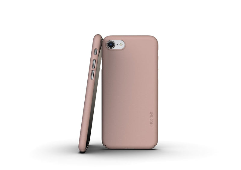 Nudient - Ohut iPhone 7/8/SE kuori V3 - Dusty Pink