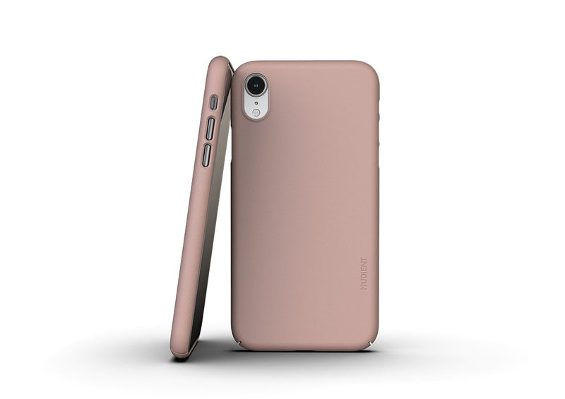 Nudient - Ohut iPhone XR kuori V3 - Dusty Pink