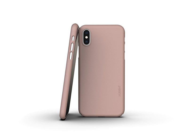 Nudient - Ohut iPhone XS kuori V3 - Dusty Pink
