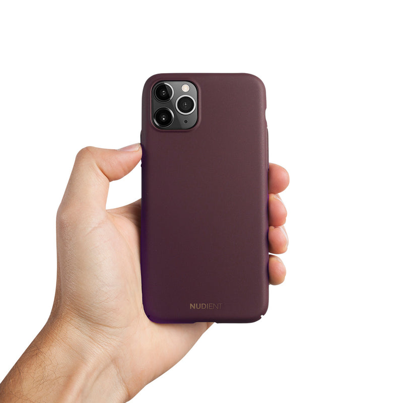 Ohut iPhone 11 Pro Max 6,5 kuori V2 - Sangria Red