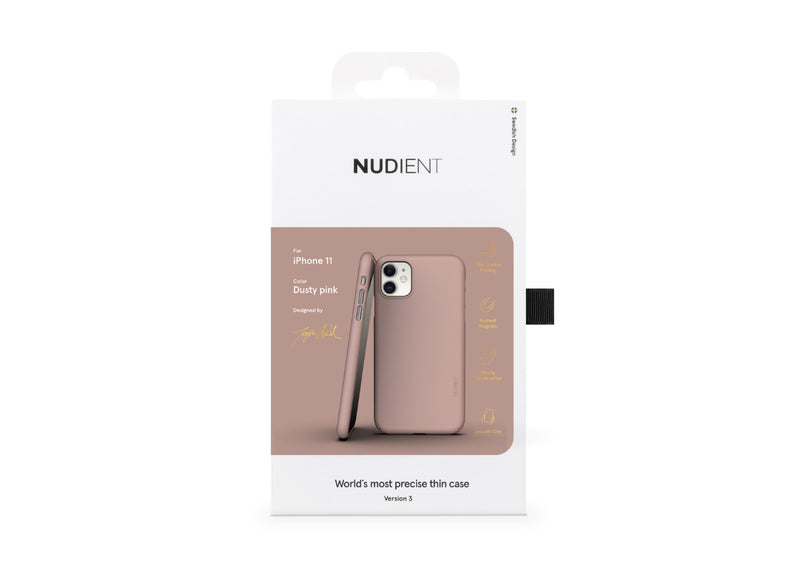 Nudient - Ohut iPhone 11 kuori V3 - Dusty Pink