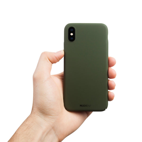 Ohut iPhone XS kuori V2 - Majestic green