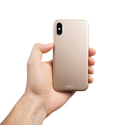 Ohut iPhone XS kuori V2 - Jewelry gold