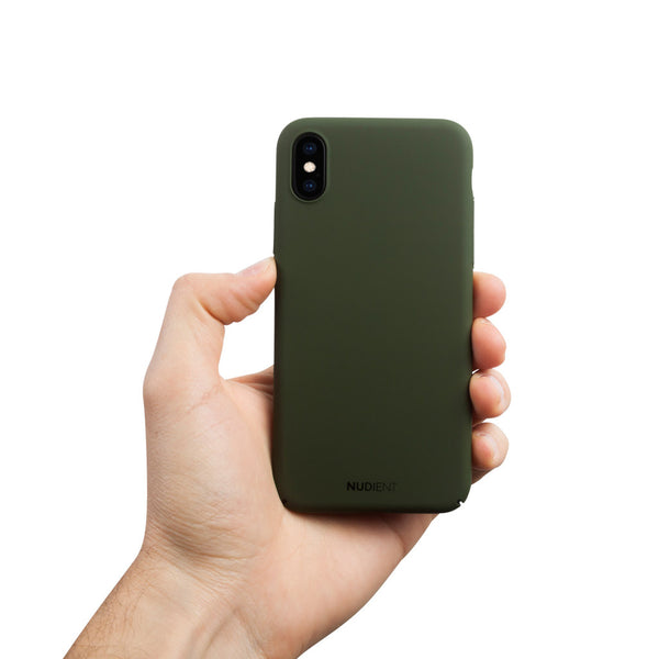 Ohut iPhone X kuori V2 - Majestic green
