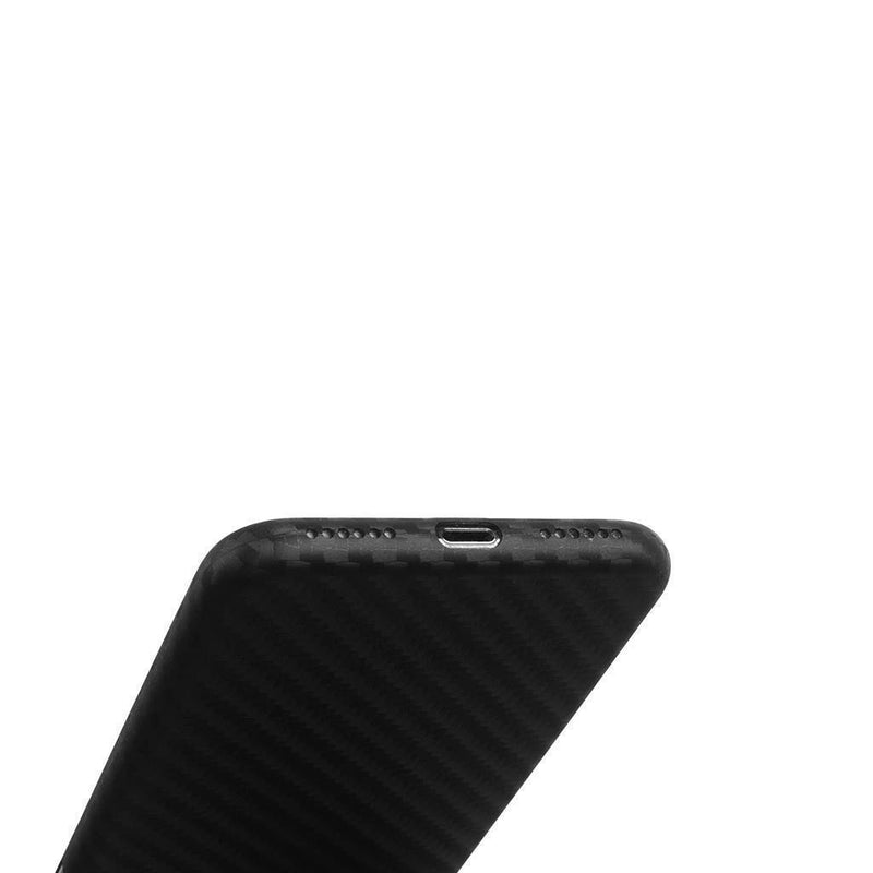 Supertynt iPhone XS deksel - Carbon edition