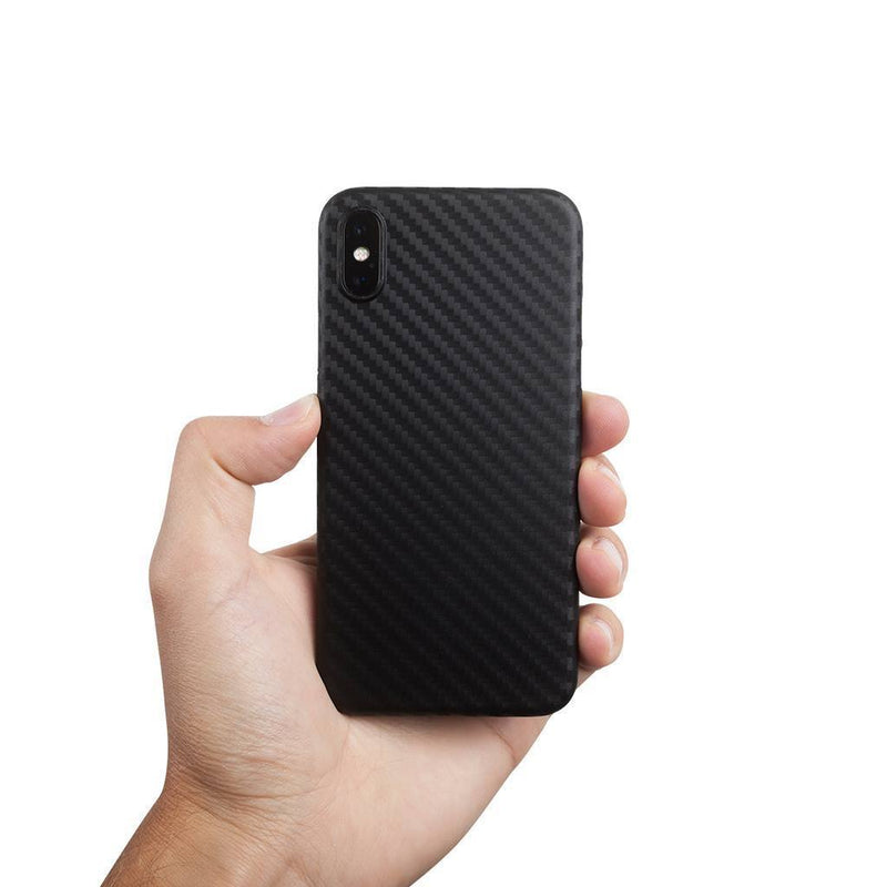 Supertynt iPhone X deksel - Carbon edition