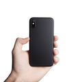Supertynt iPhone XS 5,8 deksel - Solid black