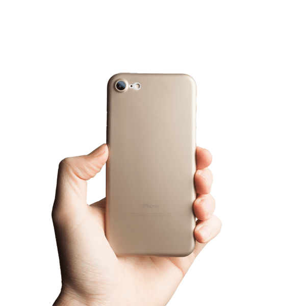 Supertynt iPhone 8 deksel - Gold