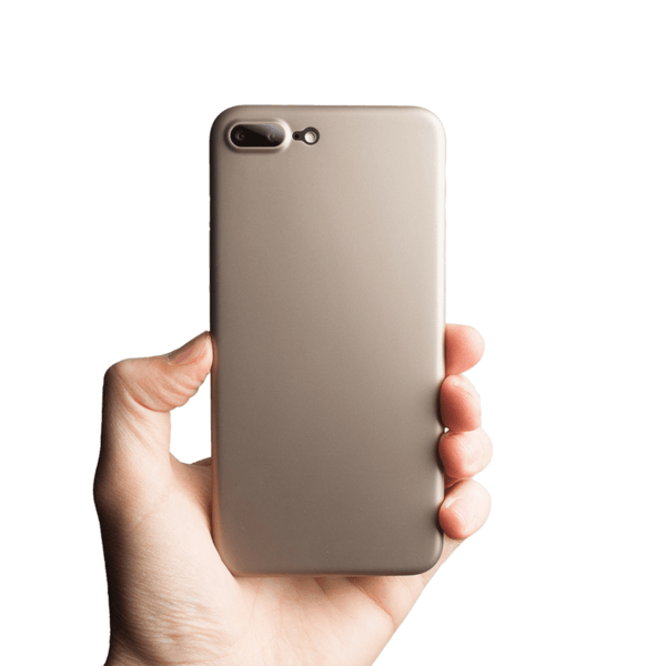 Supertynt iPhone 8 Plus deksel - Gold