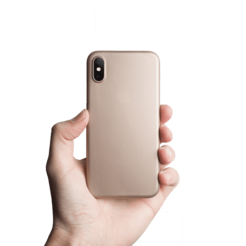 Supertynt iPhone XS deksel - Gold