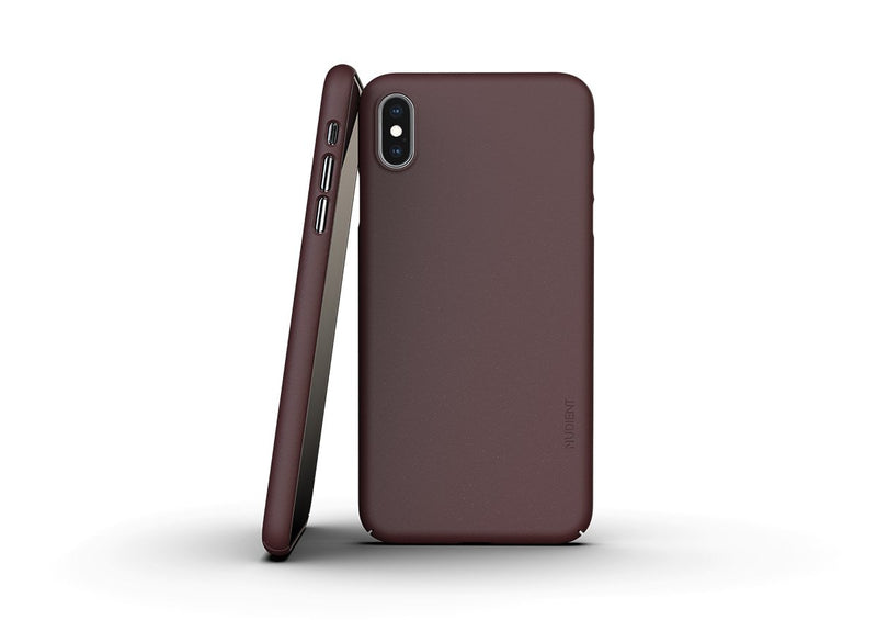 Nudient - Tynt iPhone XS Max Deksel V3 - Sangria Red