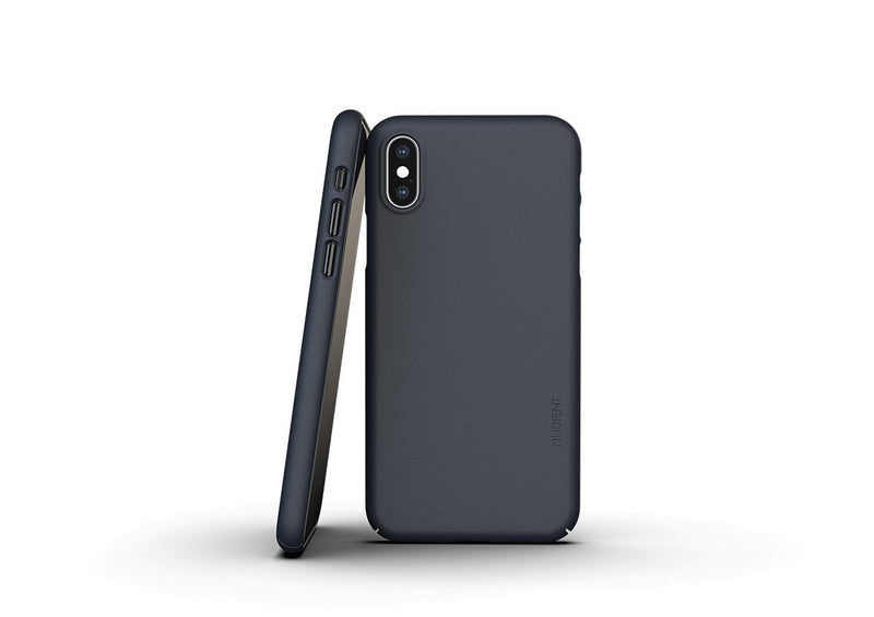 Nudient - Tynt iPhone XS Deksel V3 - Midwinter Blue
