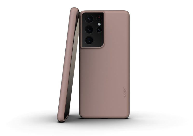 Nudient - Tynt Samsung S21 Ultra Deksel V3 - Dusty Pink