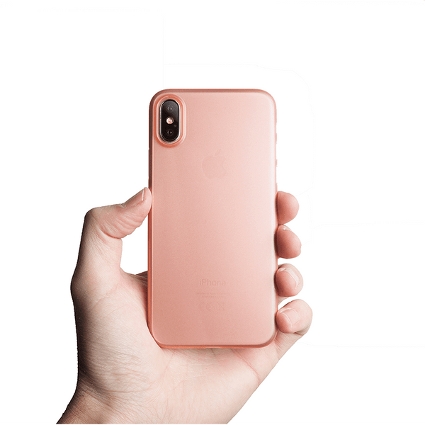 Supertynt iPhone XS deksel - Rose