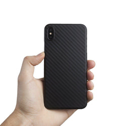 Supertynt iPhone XS Max deksel - Carbon edition