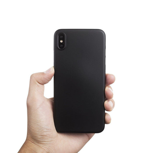 Supertynt iPhone XS Max 6,5 deksel - Solid black