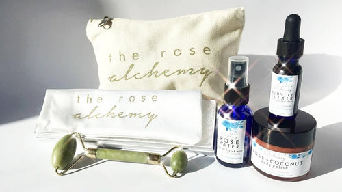 Travel Size Body Pamper Set + Face Roller - The Rose Alchemy