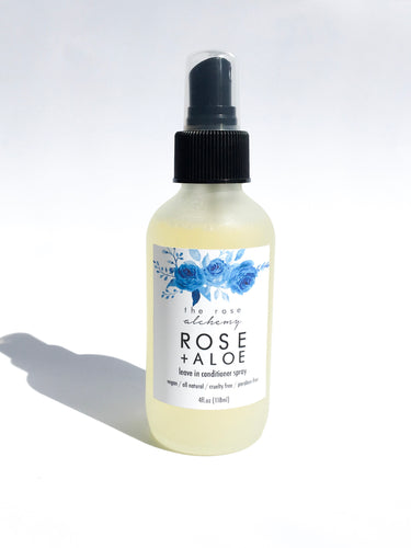 Rose + Aloe Leave-In Conditioner Spray - The Rose Alchemy