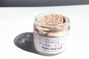 Pink Clay - Vitamin C Facial Mask - The Rose Alchemy