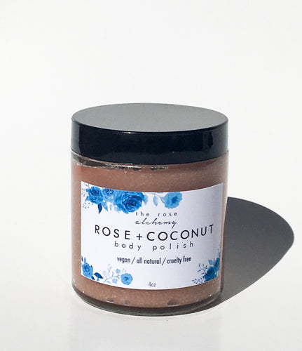 Rose + Coconut Body Polish - The Rose Alchemy