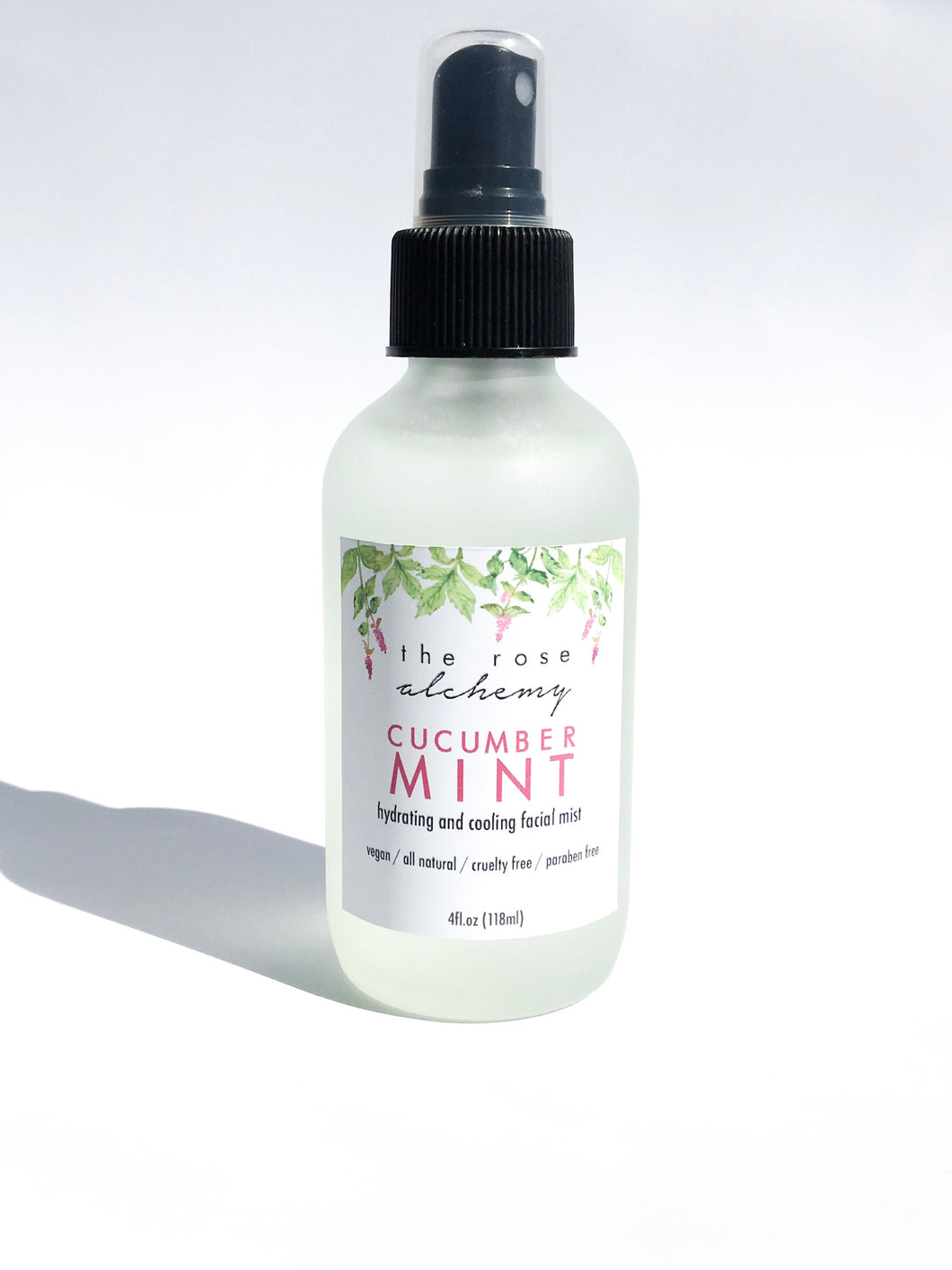 Cucumber Mint - Hydrating & Cooling Facial Mist - The Rose Alchemy