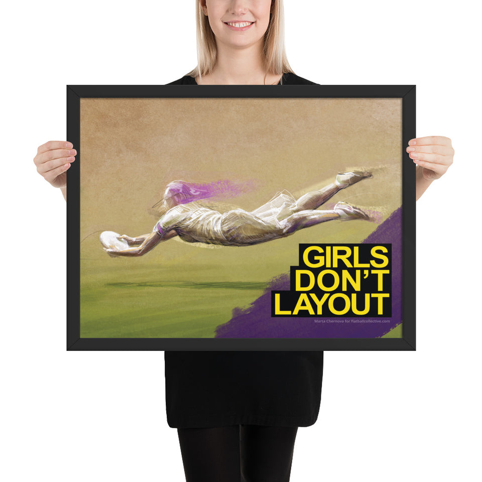 'GIRLS DON'T' FRAMED POSTER
