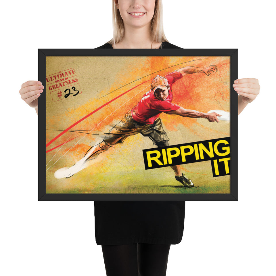 'RIPPING IT' FRAMED POSTERS