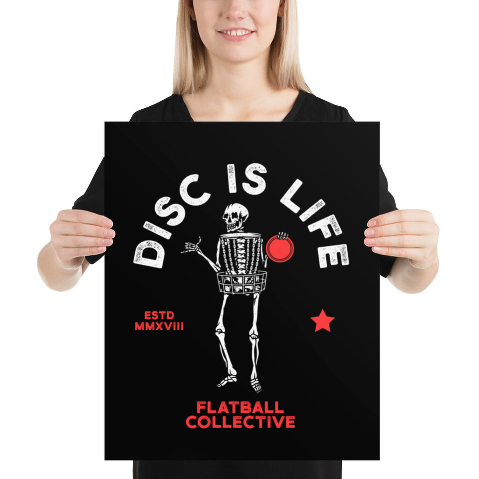 DISC IS LIFE  • DISC GOLF • POSTER
