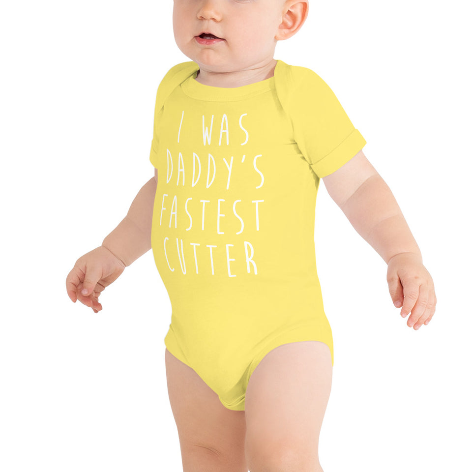DADDY'S FASTEST INFANT BODYSUIT • 3 color options