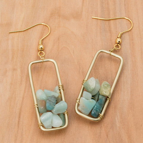 "Boucles d'Oreilles ""Stone Window"""