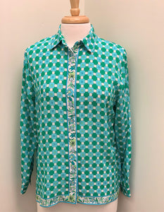 BESSI CLASSIC SILK PRINT BLOUSE - AVAILABLE IN 4 DIFFERENT COLORFUL PRINTS