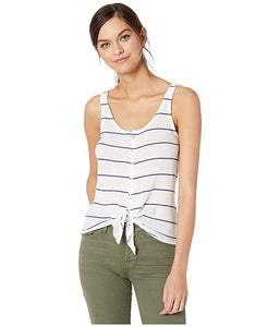 Chaser - Striped Tie Front Tank