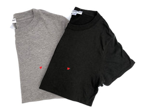 Suburban Riot - Heart Embroidery Loose Tee