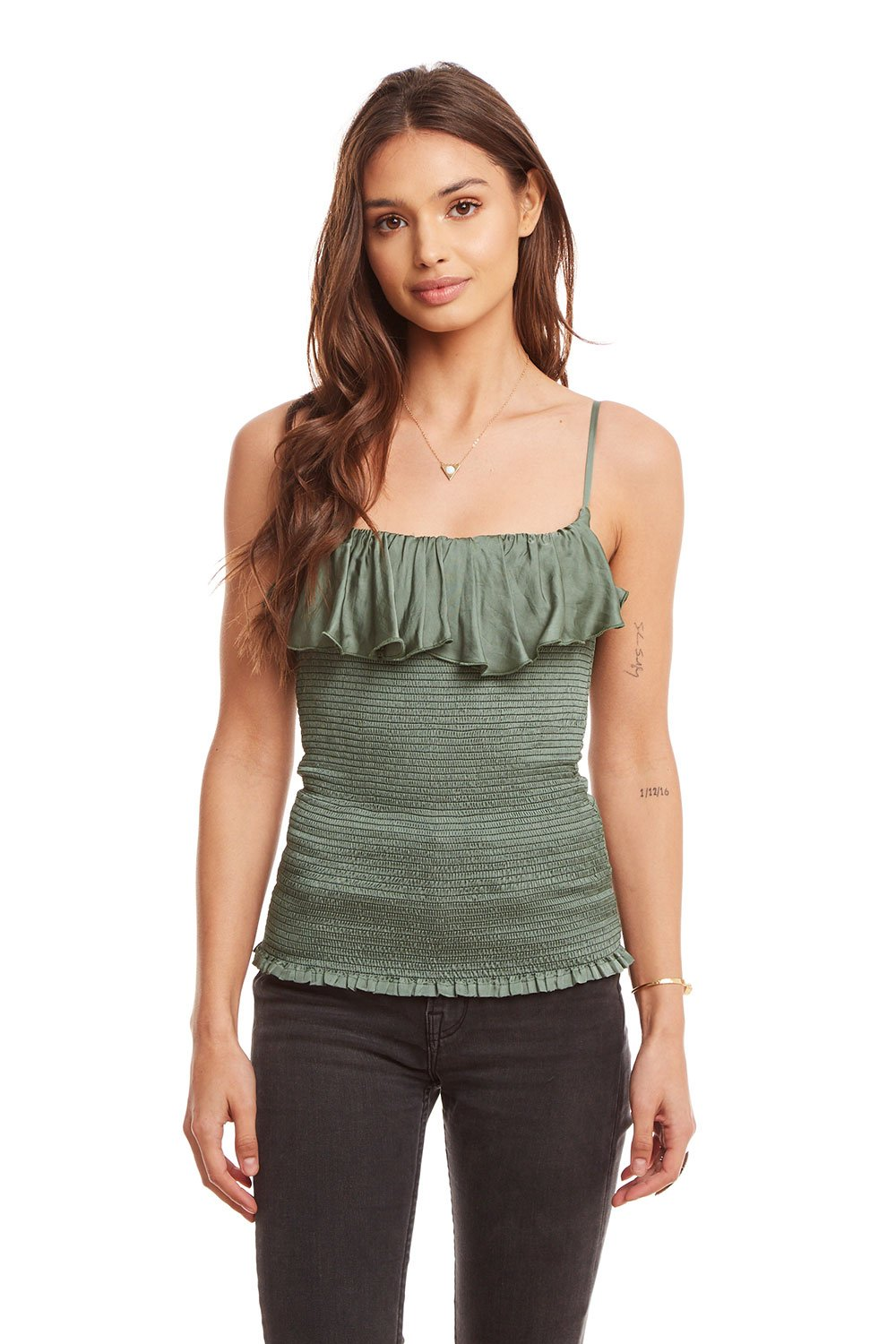 Chaser - Smocked Ruffle Cami