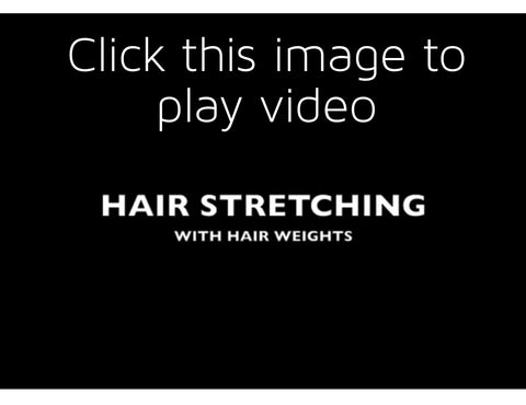 hair stretching with hair weights
