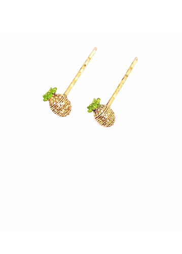 Pineapple Hairpins 2 per set
