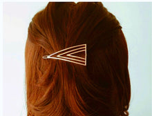 Geometric Gold Hair Clip