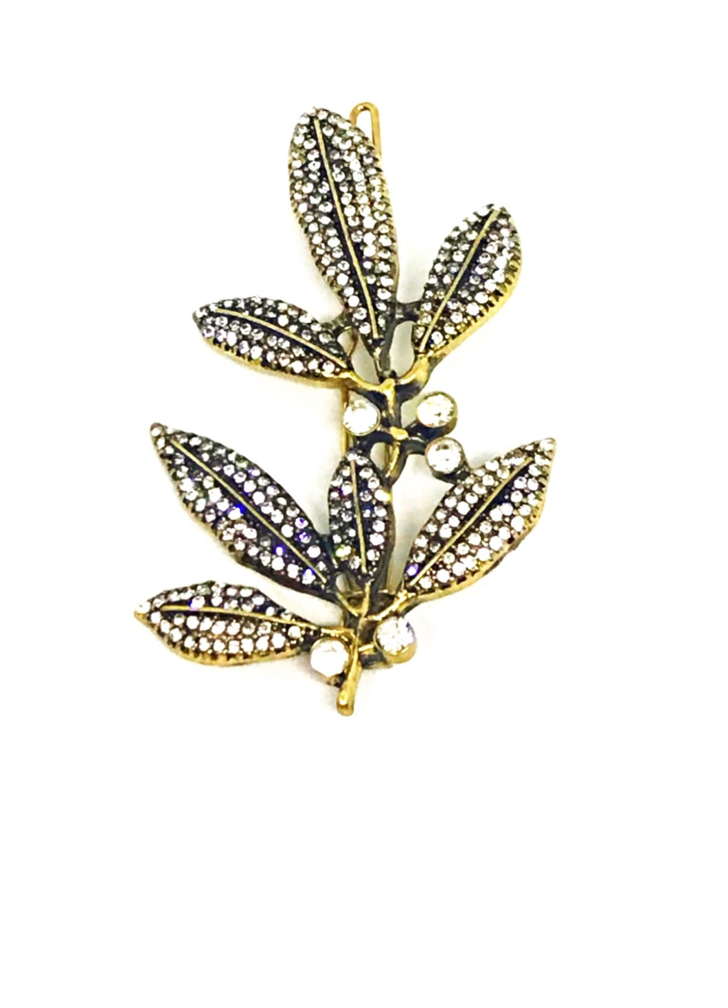 Classic Olive Leaf Hair Clip -